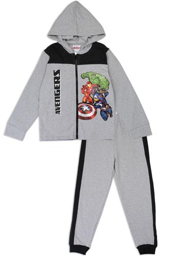 Boys avengers 4-7 2-piece zip-up fleece set