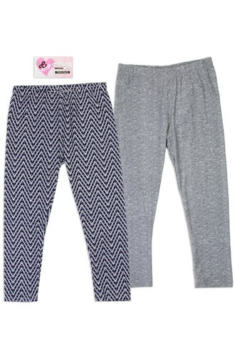 Twin Pack Girls 7-16 leggings