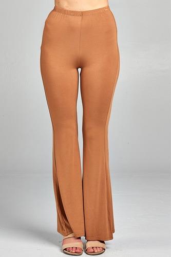 Ladies fashion bell bottom rayon spandex jersey long pants