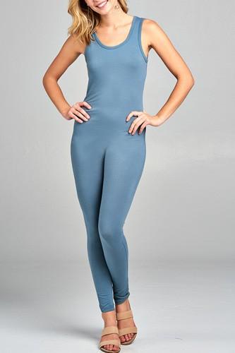 Ladies fashion sleeveless bodycon jumpsuit