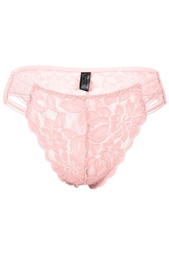 Ladies fashion caged floral lace thong