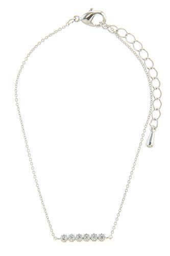 Cz pave circles accent chain bracelet
