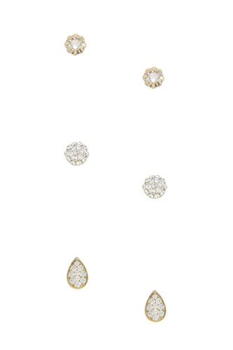 Mini cz simple stud earrings set