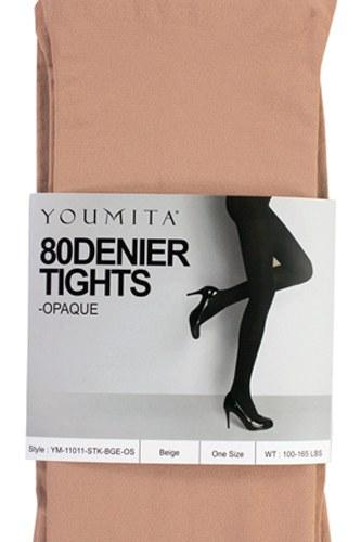 Ladies fashion non-run opaque tights with non-binding waistband
