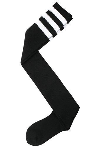 Ladies fashion over the knee high w/stripe design