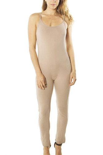 Ladies fashion spaghetti strap bodycon tank jumpsuit romper