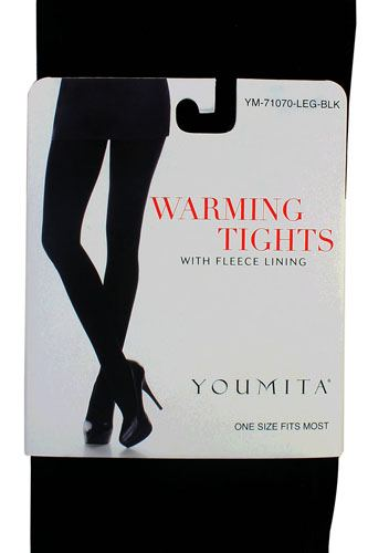 Ladies fashion warming tights with fleece lining