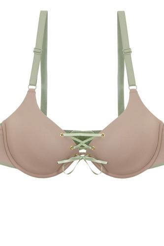 Ladies two tone tie up bra