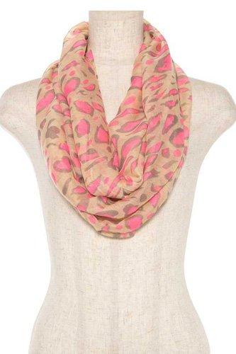 Neon color animal print infnity scarf