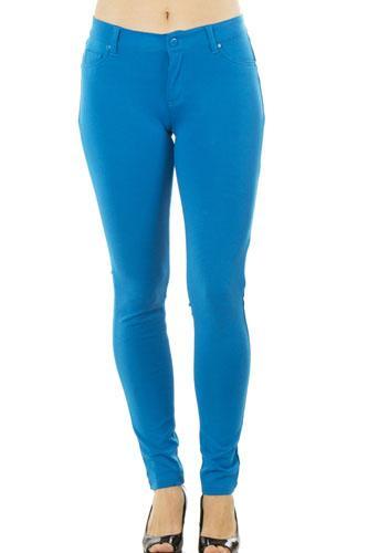 Ladies fashion stretch cotton blend leggings