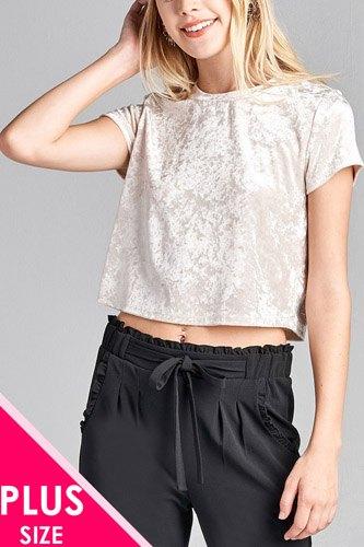Ladies fashion plus size sleeveless fishnet back tank top