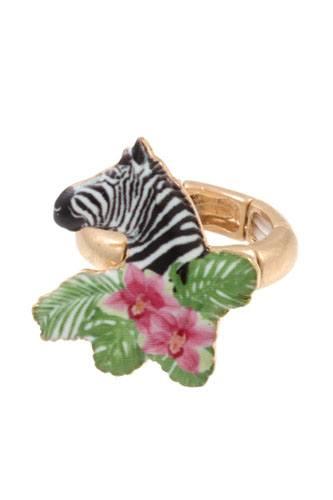 Zebra stretch ring