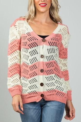 Ladies fashion  open knit cardigan