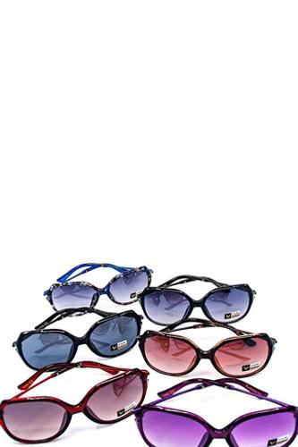 Fashion classy rhinestone accent sunglasses