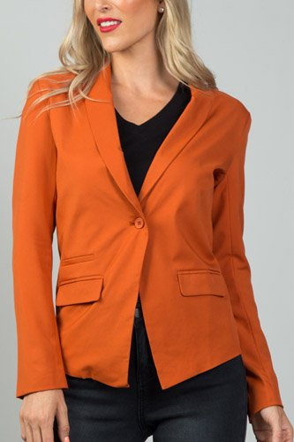 Ladies fashion single button blazer