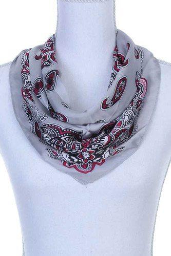 Paisley pattern bandanna scarf