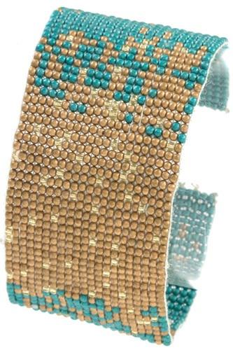 Seed bead two tone bracelet