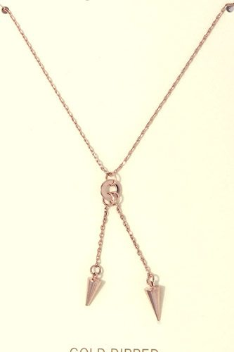 Cut out circle y shape necklace