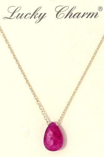 Tear drop charm necklace