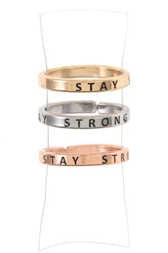 Stay strong ring set