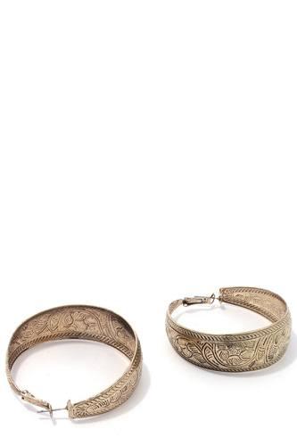 Rustic hoop earring