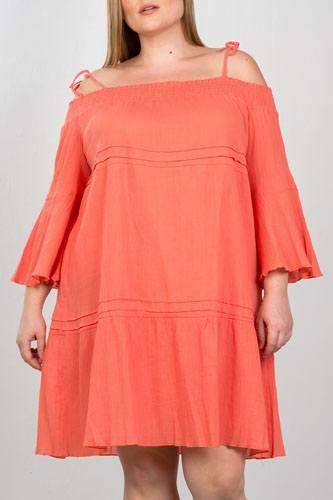 Ladies fashion plus size boho tie-shoulder boho midi dress