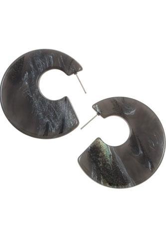 Semi circle acetate fashion earring