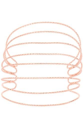 Caged flex cuff bracelet