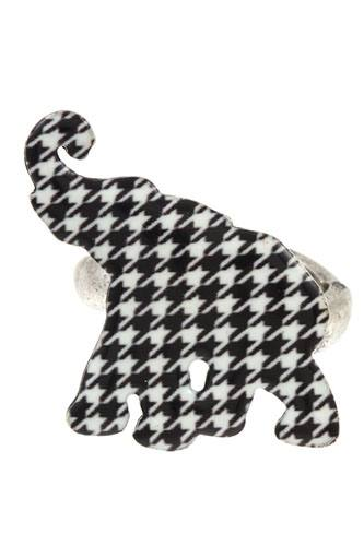 Hounds tooth pattern elephant ring