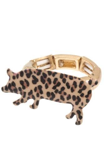 Animal print pig ring