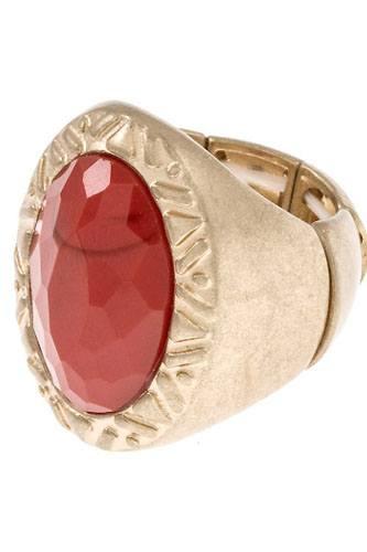 Tribal framed stretch ring