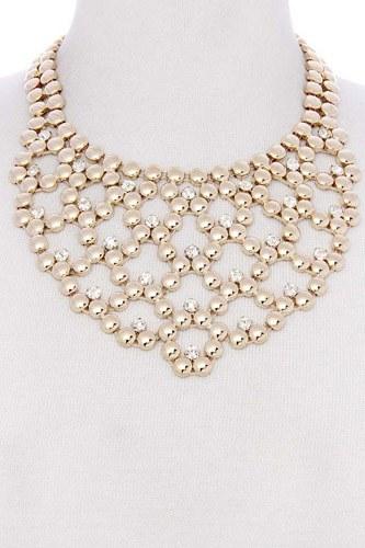 Metal ball short necklace