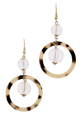 Acetate drop earring