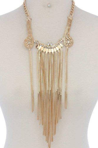 Rhinestone chunky necklace
