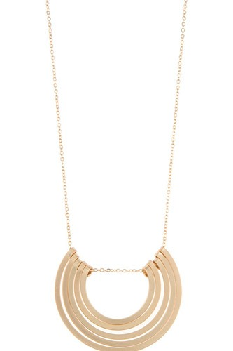Semi circle multi pendant necklace set