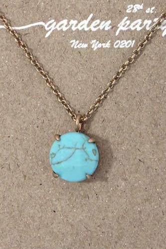 Circle shape pendant necklace