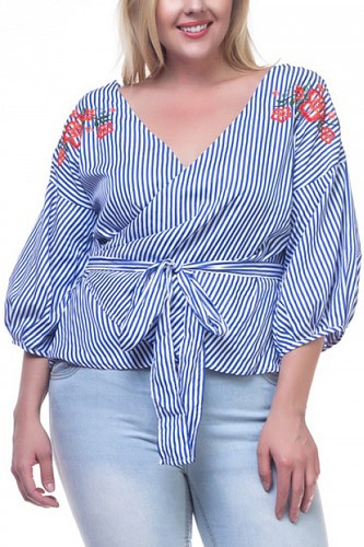 Floral stripe shirts