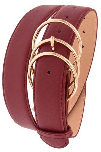 Triple ring link buckle belt