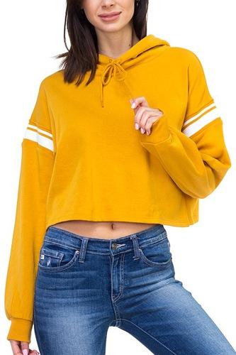 Crop hood shirts