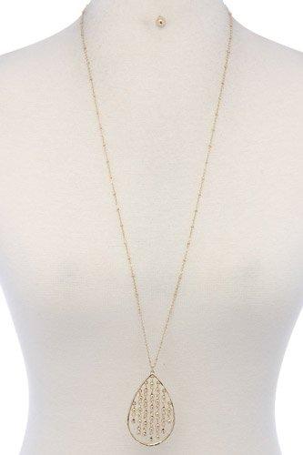 Teardrop Shape Pendant Necklace