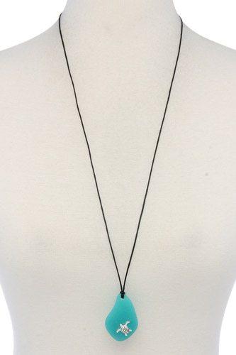 Turtle Charm Pendant Necklace