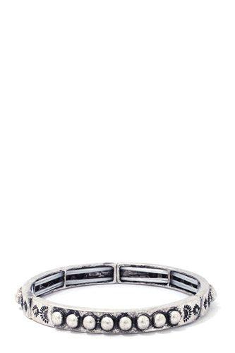 Metal Bead Stretch Bracelet