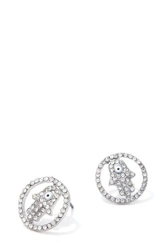 Hamsa Hand Stud Earring