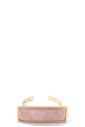Rectangular Stone Cuff Ring