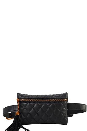 Designer Quilted Belt Fanny Bag