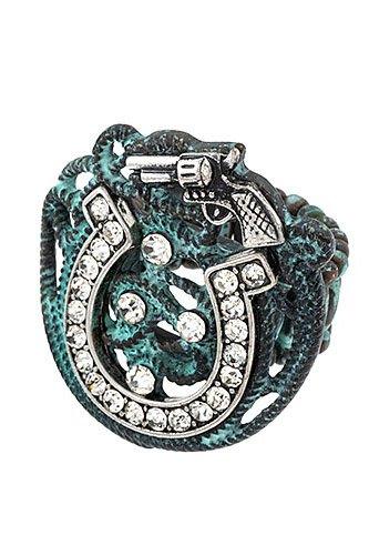 Horseshoe Studded Stretch Ring