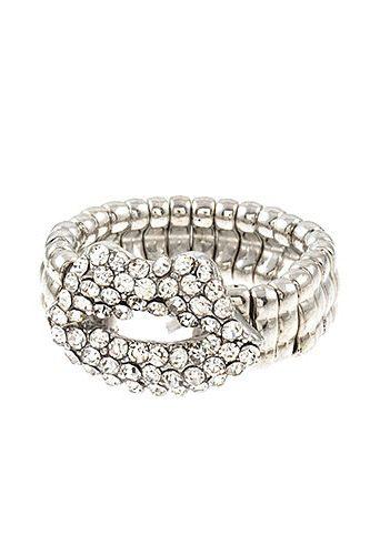 Rhinestone Lip Stretch Ring