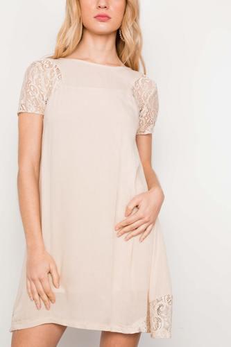 Lace Short Sleeves Dress Tunic Boho