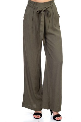 Belted Wide Leg Pants