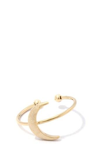 Crescent Moon Metal Ring
